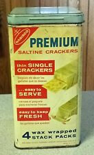 Vintage 1969 Nabisco Premium Saltine Crackers Kitchen Tin Canister Can Box 14 oz