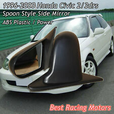 SPN Style Side Mirrors ABS Black (Power) Fit 96-00 Honda Civic 2/3dr