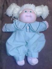 VINTAGE CABBAGE PATCH KIDS blonde girl green dress DOLL1980s cpk xavier roberts