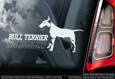 Bull Terrier - Car Window Sticker - Dog Sign -V02