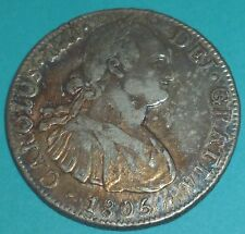 1806 Mexico  8 Reales Carolus IIII Spanish Colonial Silver Coin Nice Toned