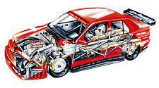 ALFA ROMEO 155 DTM RACE CAR CUTAWAY POSTER PRINT 20x36 HIGH RES