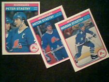 STASTNY'S BROTHERS   QUEBEC NORDIQUES 82/83 AUTHENTIC O-PEE-CHEE CARDS