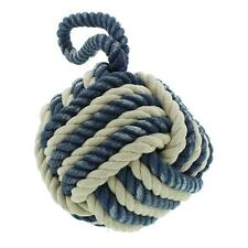 Nautical Theme Rope Doorstop - Blue and White Door Stopper DS106