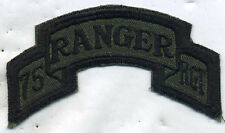Early Vietnam Era US Army 75th Ranger Rgt OD Subdued Patch Tab Cut Edge