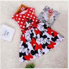 Baby Girls Dress Cute Minnie Mouse Dresses Kid Toddler Clothes Fit 3-4Y 02