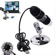 2MP 1000X 8 LED USB Digital Microscope Endoscope Zoom Camera Magnifier& Stand WT