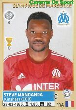 221 STEVE MANDANDA FRANCE OLYMPIQUE MARSEILLE OM STICKER FOOT 2014-2015 PANINI