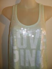 Victoria's Secret XS Top Bling Sequins Mint White Summer Beach Party Shiny Sexy