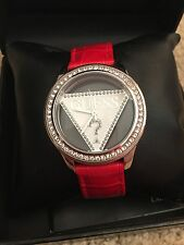Ladies Red Leather Guess Watch