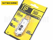 NiteCore TIP Cree XP-G2 360lm 74m USB Pocket Keychain Flashlight Silver