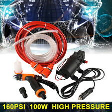 160PSI 100W 12V Portable High Pressure Electric Washer Wash Pump 8L/min Car Moto