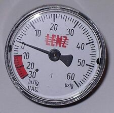VACUUM GAUGE 32123 CLEAN BURN FURNACE PART ALL BRANDS WASTE OIL HEATERS