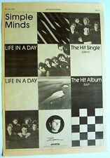 SIMPLE MINDS 1979 Poster Ad LIFE IN A DAY