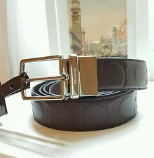 NWT Coach Morden Harness Cut To Size Reversible Signature Embossed Belt F64827