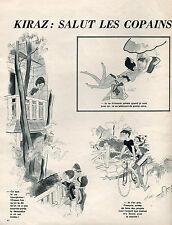 ▬►  Dessin Humoristique KIRAZ Salut les copains des Parisiennes 1964 2 pages