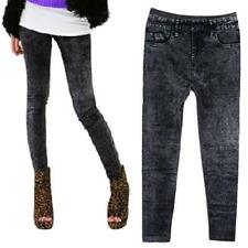 Women Winter Lady Jeans Skinny Stretchy Jeggings Slim Leggings Pencil Pants Gray
