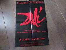 AFFICHE EXPOSITION DALI 26 MARS 26 JUIN 1983