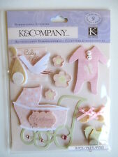 K&CO DIMENSIONAL STICKERS - BABY GIRL