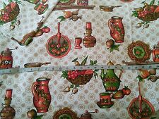 1950's Vintage retro collectable kitchen cotton fabric lot