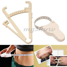 Body Tape Measure And Fat Tester Calipers Fitness Health Weight Loss Diet Gym