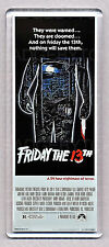 FRIDAY THE 13th movie poster LARGE 'WIDE' FRIDGE MAGNET - 80's HORROR CLASSIC!