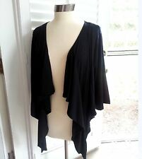 Womens BLACK Cardigan Bolero Drip Front Shrug Top Yummy Plus Size 2X