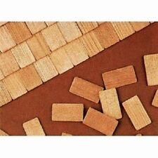 CEDAR SHAKE SHINGLE ROOFING for scratch built model railroad trains & birdhouses