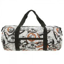 STAR WARS PACKABLE BB-8 DUFFLE BAG TRAVEL GYM LUGGAGE ZIP BAGGAGE EXPANDABLE NWT