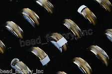 wholesale Jewelry Lots 20pcs Men's Fashion Cat Eye Stainless Steel Ring New