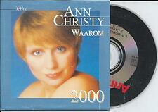 ANN CHRISTY - Waarom 2000 CD SINGLE 3TR CARDSLEEVE BELGIUM RARE!