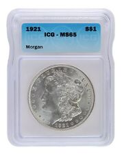 1921 Silver Morgan Dollar ICG MS65 Lot of 1
