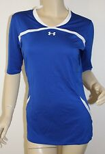 Women's UNDER ARMOUR *NWT* Elevate ½ Sleeve Volleyball Jersey Blue ~ MEDIUM