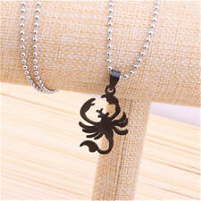 1Pcs Women's Fashion Stainless Steel Jewelry Scorpion Pendant Necklace