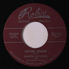 CHAMPION JACK DUPREE: Drunk Again / Shim Sham Shimmy 45 (repro) Blues & R&B