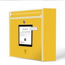Burg-Wächter Wandbriefkasten MAIL Postkasten mit Motiv Briefkasten Gelb Postbox