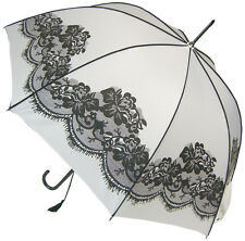 Blooming Brollies Boutique Vintage Lace Stick Umbrella - White