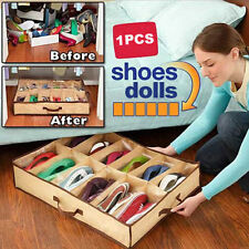 12 Pairs Shoes Organizer Holder Intake Under Bed Closet Storage Fabric Bag Box
