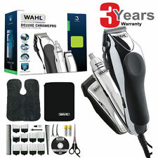 Wahl 79524-810 Deluxe Pro Chrome Complete Hair Clipper Nose Ear Trimmer Kit