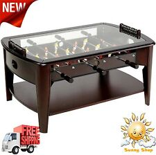 """42"""" Foosball Coffee Table Tempered Glass Game Room or Living Room New"""