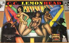 C.C. LEMONHEAD promotional poster, 18x 24, rap, hip-hop, exotic dancers, VG+