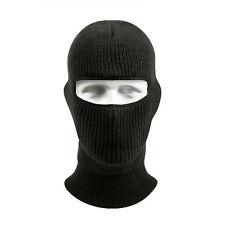 Black Military Winter 1 Hole Wintuck Ski Airsoft Cold Weather Warm Face Mask
