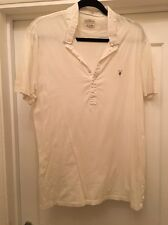 Men's All Saints Cream Polo Shirt Size XXL