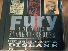 Fury In The Slaughterhouse  Every Generation Got Its Own Disease RARE PROMO