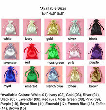 """3x4"""" PREMIUM QUALITY SATIN POUCH-30/pk, Wedding Party Favor Gift Candy Bag."""