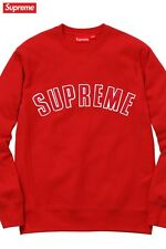 Supreme Arc Logo Crewneck Red Sz XL Fall/Winter 2015 Long Sleeve Sweatshirt