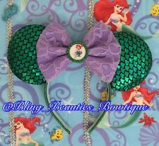 Ariel Little Mermaid Minnie Mouse Ears Headband Disneyland Disneyworld
