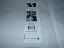 ELTON JOHN - Petite Publicité de magazine / Marque-page  !!!! SINGLE MAN !!