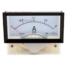 DC 0-2A Rectangle Panel Gauge Meter Analog Ampere Ammeter Class 2.5