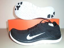 New Nike Free 4.0  Flyknit Black White Running Shoes sz 10.5